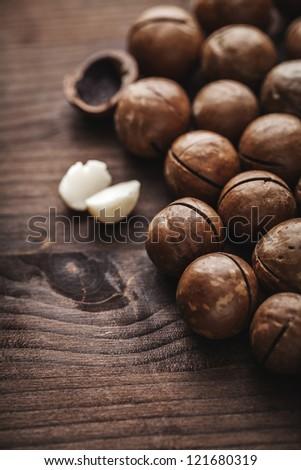 macadamia nuts - stock photo