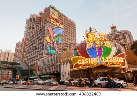 Macao, China - February , 2015: Holiday in Macao, Grand Lisboa
