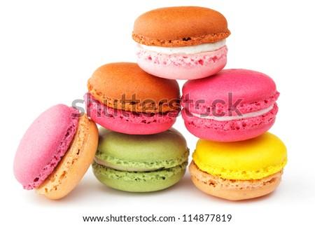 macaron cookies - stock photo