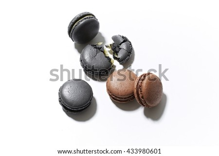 Macaron french dessert isolated from white background
