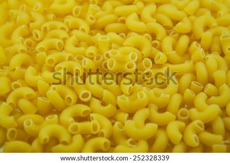 Macaroni is the staple food of the Italian series. - stock photo