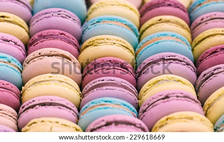 macarons background - stock photo