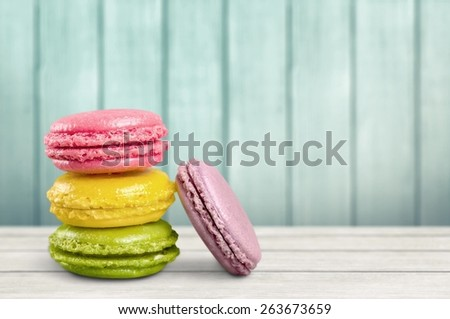 Macaroon. Tasty colorful macaroon - stock photo