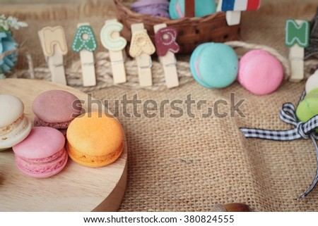 macaroons dessert traditional french colorful and sweet