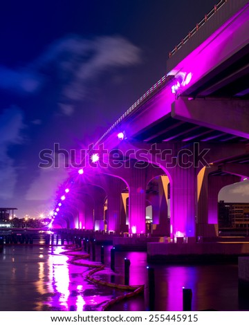Macarthur Causeway - Miami,FL - stock photo