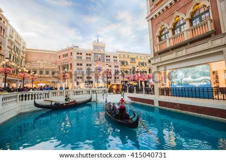 Macau china february 22 2016 venetian stock photo safe to use macau china february 22 2016 the venetian macau interior view macau altavistaventures Choice Image
