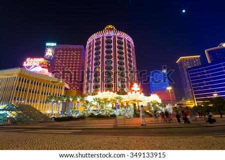 MACAU,CHINA - NOV 23:The Hotel Lisboa on Nov 23, 2015 in Macau. This is a major tourist attraction in Macau. - stock photo