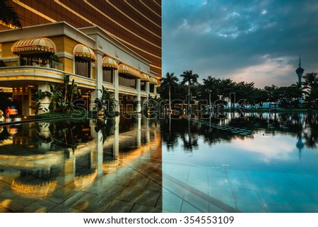 MACAU,CHINA - NOV 23:The Wynn Hotel on Nov 23, 2015 in Macau. This is a major tourist attraction in Macau. - stock photo