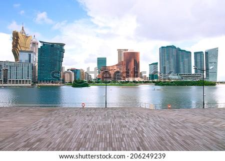 Macau landscape downtown,China - stock photo