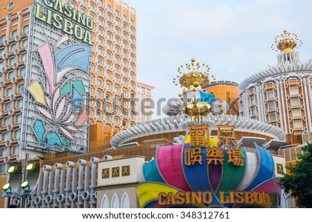 Macau, Macau - November 2 2015: The Lisboa is the original casino in Macau,