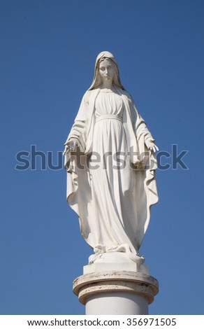 MACELJ, CROATIA - MARCH 21: Our Lady, Memorial Church of the Passion of Jesus in Macelj, Croatia on March 21, 2015 - stock photo