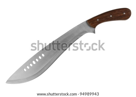 Machete for cutting grass on a white background - stock photo