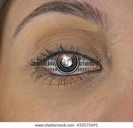 Machine Eye - stock photo