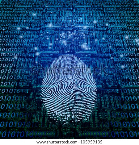 Machine Fingerprint - stock photo