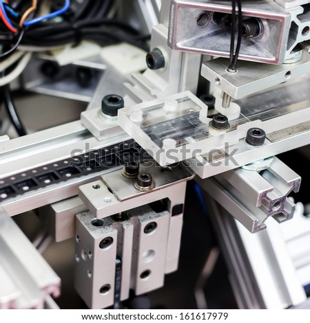 machine for manufacturing - stock photo