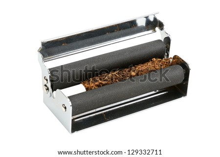 machine for rolling of cigarettes - stock photo