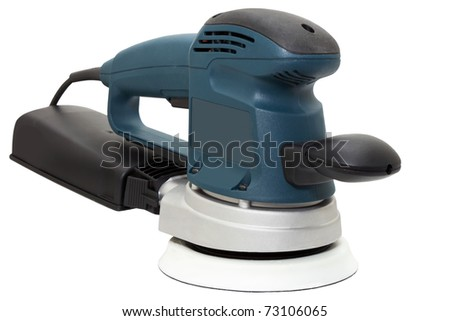 machine for sanding isolated on a white background - stock photo