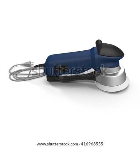 Machine for sanding isolated on a white. 3D illustration