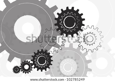 Machine Gear Background - stock photo