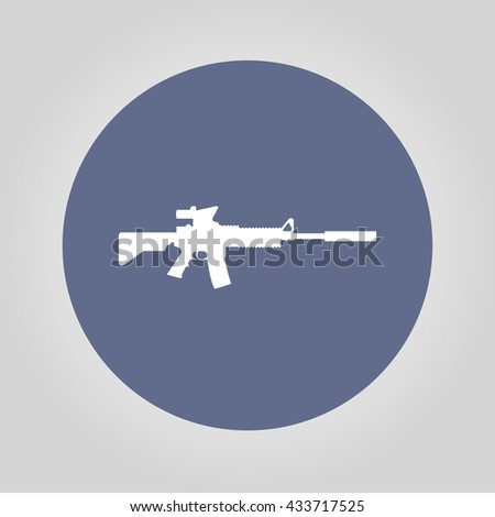 machine gun icon. concept illustration for design. - stock photo