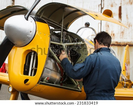 Machine operator. - stock photo
