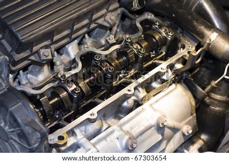 Machine Parts - Engine - stock photo