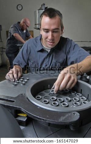 Machine Shop Workers - stock photo