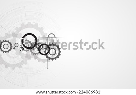 machine technology gears. retro gearwheel mechanism abstract background - stock photo