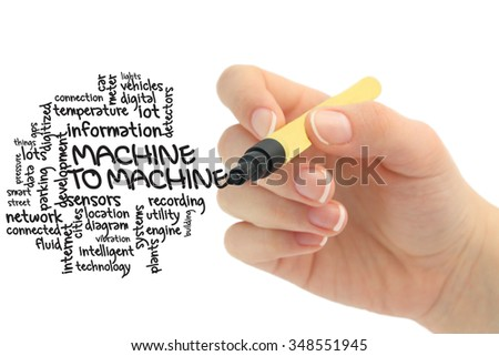 machine to machine concept - stock photo