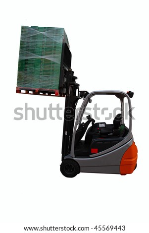machine with load - stock photo
