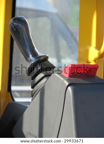 machinery joystick - stock photo