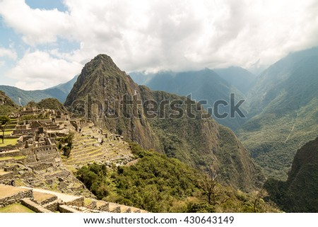 Machu Picchu, Cusco, Peru, South America. A UNESCO World Heritage Site