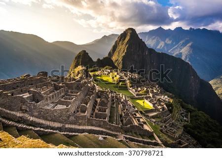 MACHU PICCHU, CUZCO, PERU. - stock photo