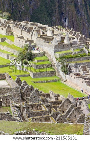 Machu Picchu detail, Peru - stock photo