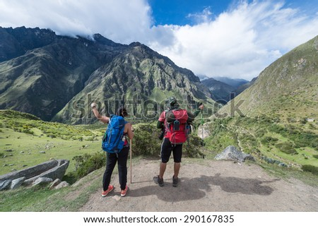 Machu Picchu is a New 7 Wonder of the Word, Cusco, Peru - stock photo