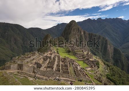 Machu Picchu, New 7 Wonder of the Word, Cusco, Peru - stock photo
