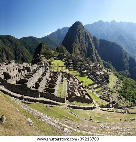 Machu Picchu panorama - stock photo