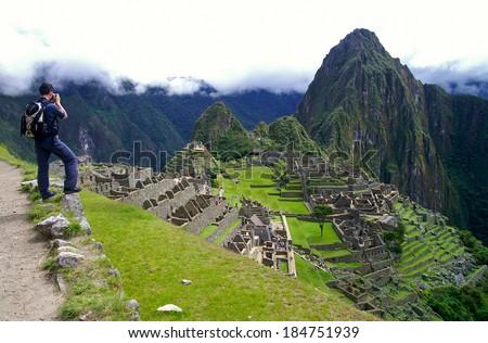 Machu Picchu - the lost city of the Incas, Peru - stock photo