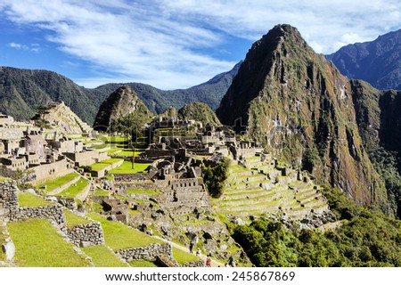 Machu Pichu World Heritage Site, Peru - stock photo