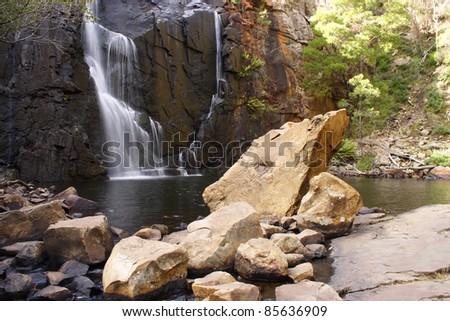 MacKenzie falls in Victoria Australia - stock photo