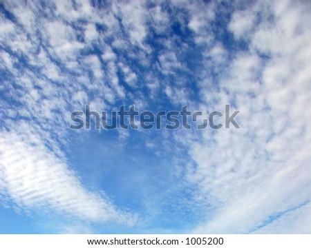 Mackerel Sky - stock photo