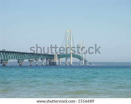 Mackinac Bridge, Michigan - stock photo
