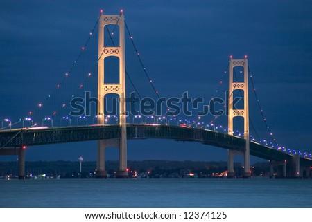 Mackinac Bridge, Michigan's Upper Peninsula - stock photo