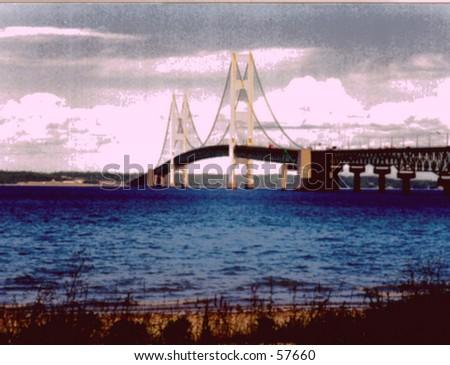 Mackinaw Bridge - stock photo