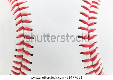 macro a photo of a light baseball ball - stock photo