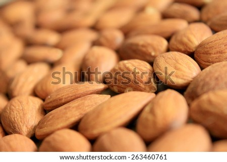 Macro Almonds 2 - stock photo