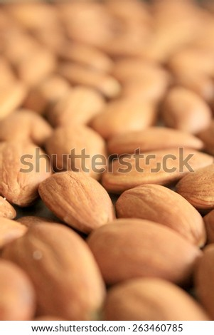 Macro Almonds 3 - stock photo