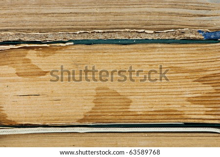 Macro background of old book pages. Shallow DOF - stock photo