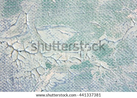 Macro Blue and White Paint Textures 5 - stock photo