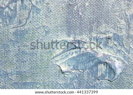 Macro Blue and White Paint Textures 1